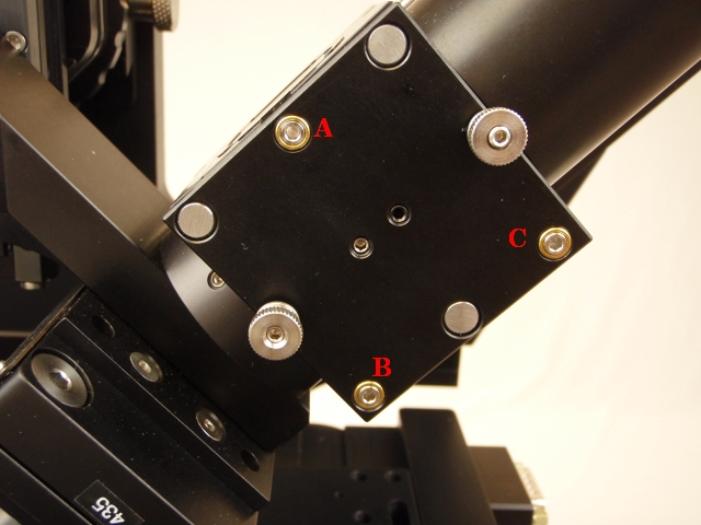 CUBE-III kinematics and objective bushings must both be used to get the beam uniformly focused