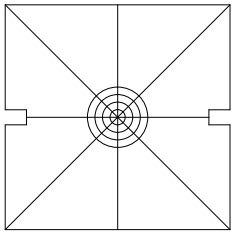 Square target; fits on a cube in place of the cover after downloading and printing at full size.