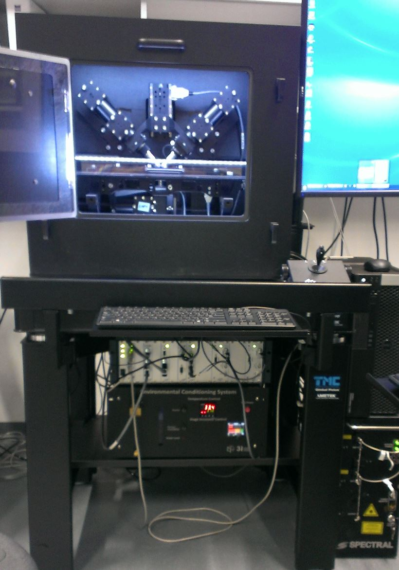 Full diSPIM system installed in a lab (ca. summer 2014)